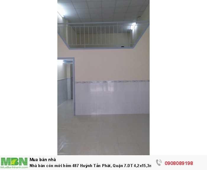 Nhà bán còn mới hẻm 487 Huỳnh Tấn Phát, Quận 7.DT 4,2x15,3m, 1 trệt 1 lửng