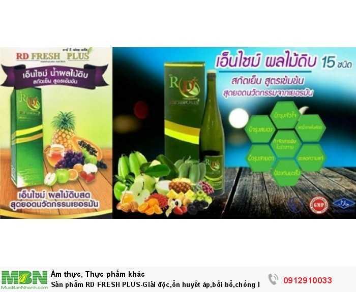 Sản phẩm RD  FRESH PLUS-Giải độc,ổn huyết áp,bồi bổ,chống  lão, cân bằng  cơ thể1