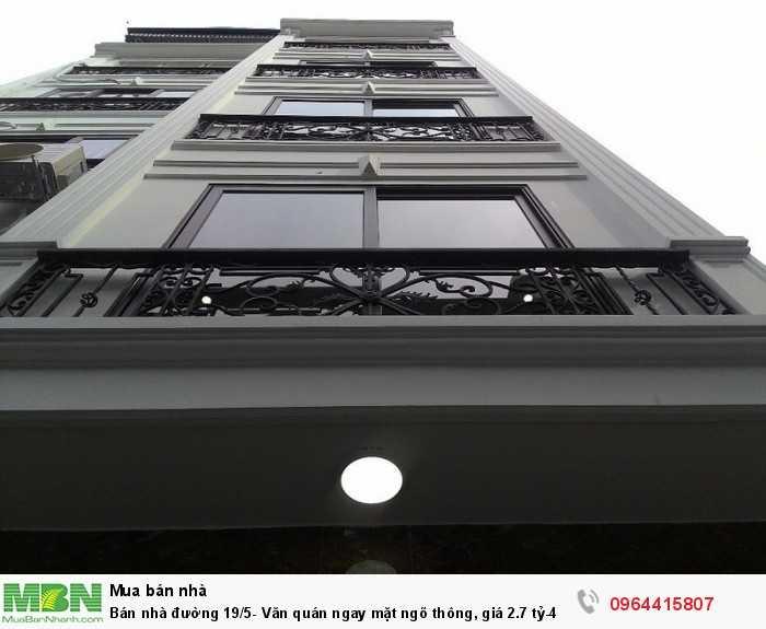 Bán nhà đường 19/5- Văn quán ngay mặt ngõ thông, 4 tầng- 45m2, full điều hòa nóng lạnh