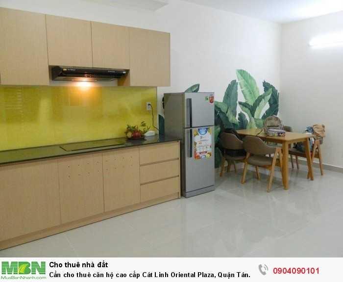 Cần cho thuê căn hộ cao cấp Cát Linh Oriental Plaza, Quận Tân Phú. Diện tích 75m2, 2pn
