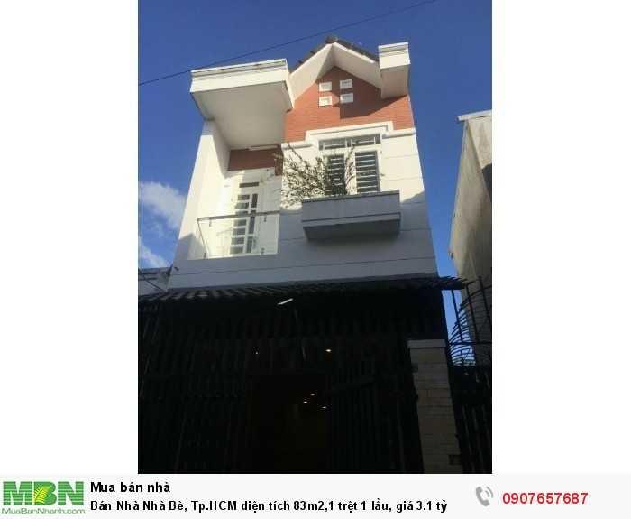 Bán Nhà Nhà Bè, Tp.HCM diện tích 83m2,1 trệt 1 lầu