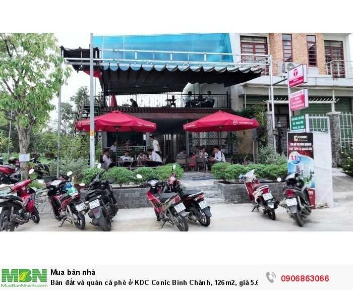 Bán đất và quán cà phê ở KDC Conic Bình Chánh, 126m2, giá 5.6 tỷ, đang cho thuê 15tr/th