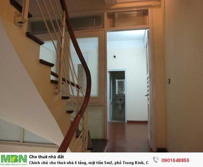Chính chủ cho thuê nhà 4 tầng, mặt tiền 5m2, phố Trung Kính, Cầu Giấy