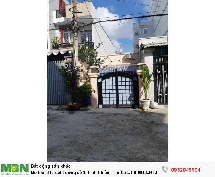 Mở bán 3 lô đất đường số 9, Linh Chiểu, Thủ Đức.
