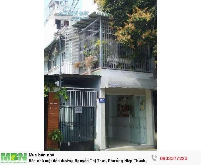 Nhà mặt tiền đường Nguyễn Thị Thơi, Phường Hiệp Thành, Quận 12.