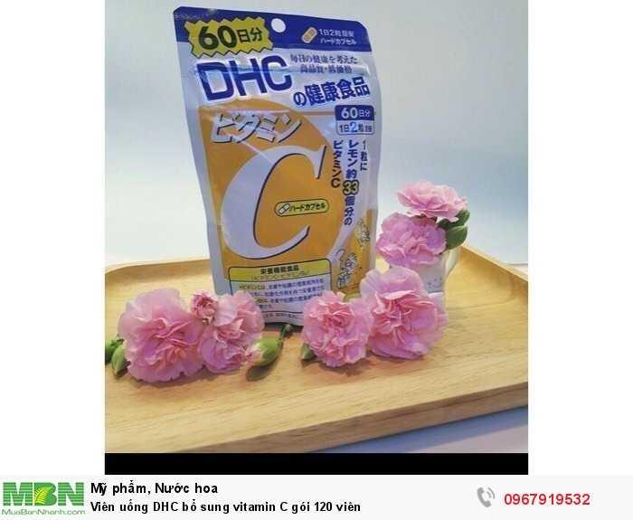 Viên uống DHC bổ sung vitamin C gói 120 viên0