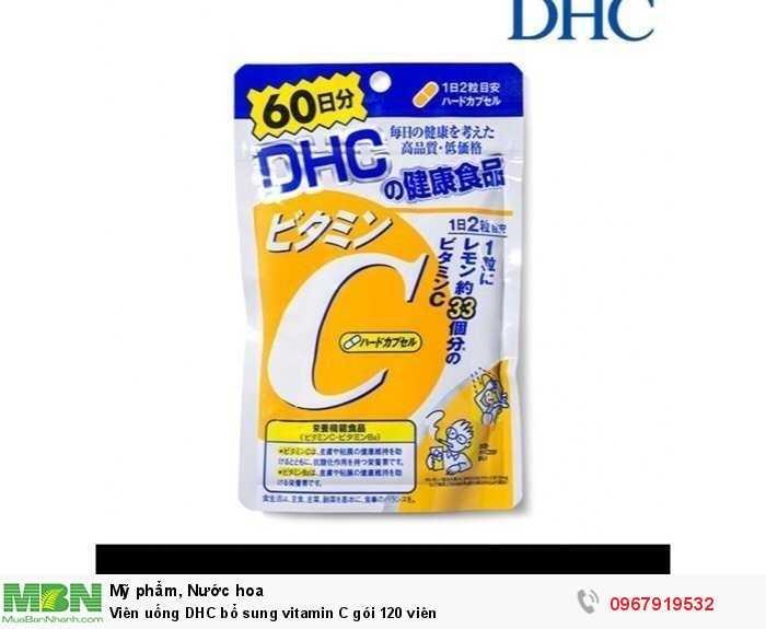 Viên uống DHC bổ sung vitamin C gói 120 viên1