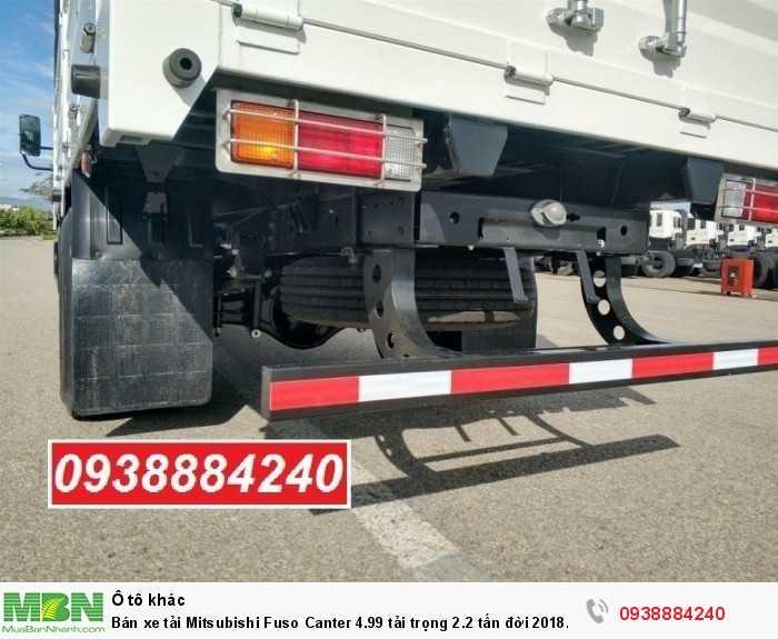Bán xe tải Mitsubishi Fuso Canter 4.99 tải trọng 2.2 tấn đời 2018 tiêu chuẩn Euro 4 tại Thaco Long An, Tiền Giang, Bến Tre