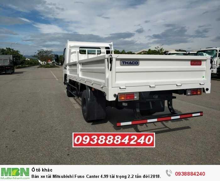 Bán xe tải Mitsubishi Fuso Canter 4.99 tải trọng 2.2 tấn đời 2018 tiêu chuẩn Euro 4 tại Thaco Long An, Tiền Giang, Bến Tre 2