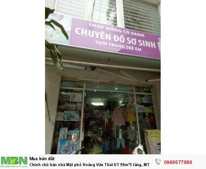 Chính chủ bán nhà Mặt phố Hoàng Văn Thái DT 90m*5 tầng, MT 4 m