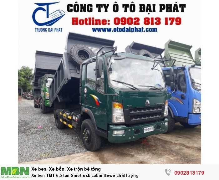 Xe ben TMT 6.5 tấn Sinotruck cabin Howo chất lượng 0