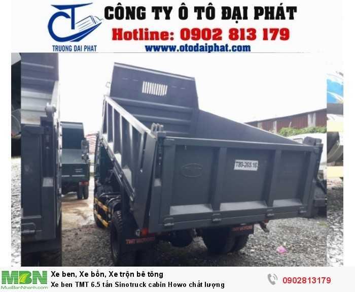 Xe ben TMT 6.5 tấn Sinotruck cabin Howo chất lượng 2