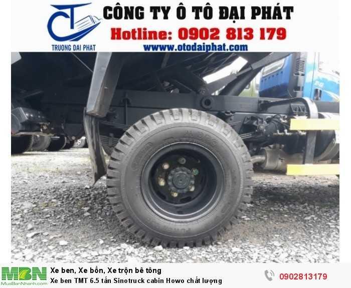 Xe ben TMT 6.5 tấn Sinotruck cabin Howo chất lượng 3