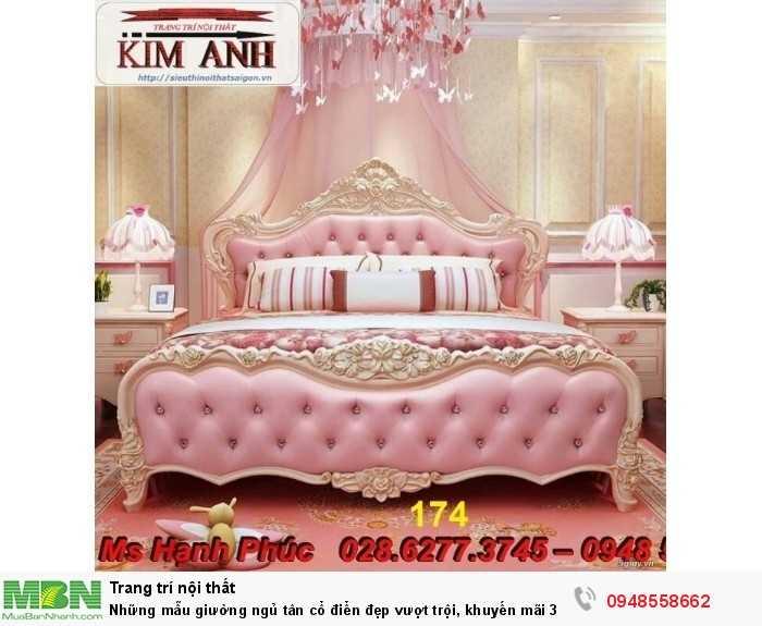 Những mẫu giường ngủ tân cổ điển đẹp vượt trội, khuyến mãi 30% siêu hấp dẫn