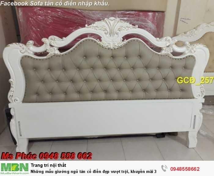giường tân cổ điển gỗ tự nhiên