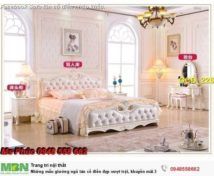 mẫu giường cổ điển