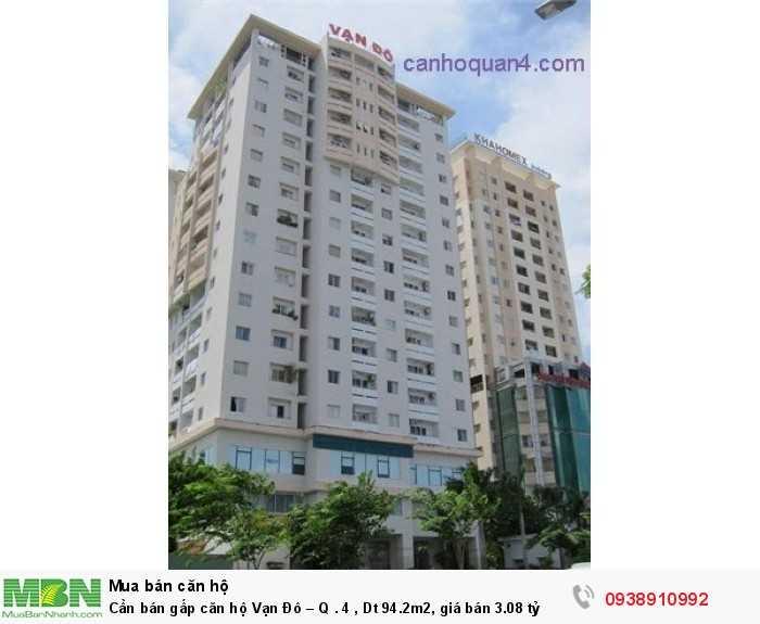 Cần bán gấp căn hộ Vạn Đô – Quận 4, Dt 94.2m2