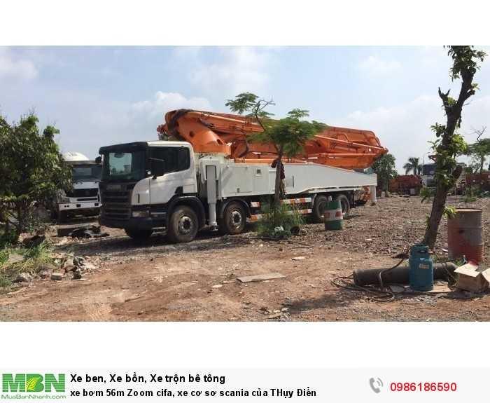 Xe bơm 56m Zoom cifa, xe cơ sơ scania của THụy Điển, SX 2012, Chất Lượng Tốt, Giá Cả Thanh Lý