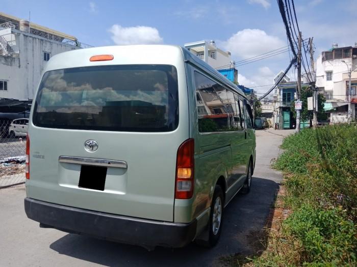 Toyota Hiace 2009 Số sàn màu xanh