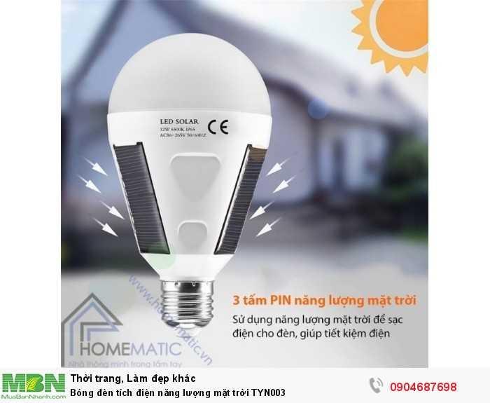 Bóng đèn tích điện năng lượng mặt trời TYN0033