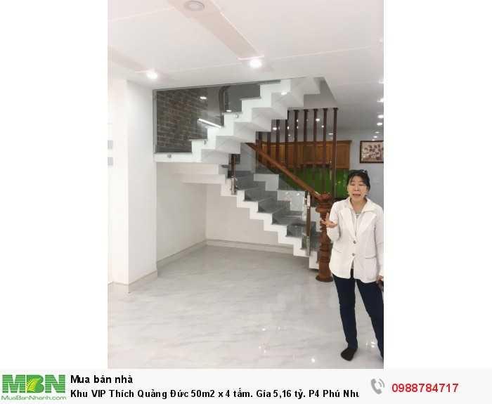 Khu VIP Thích Quảng Đức 50m2 x 4 tấm. P4 Phú Nhuận. TL.