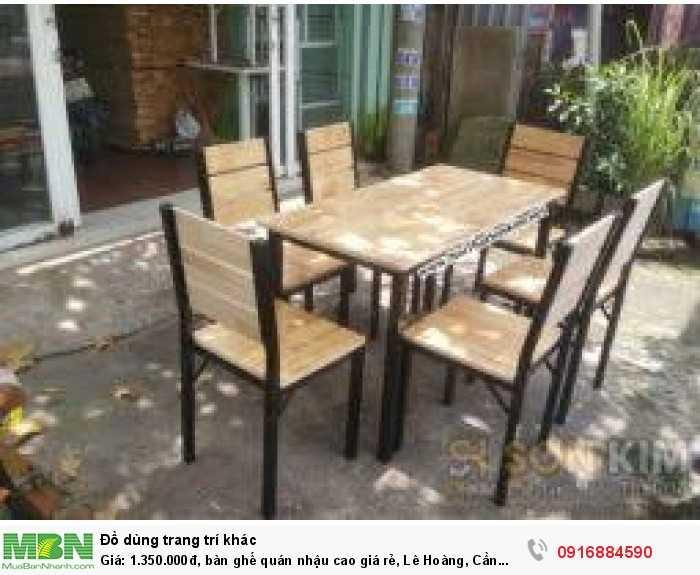 Bàn ghế quán nhậu cao giá rẻ, Lê Hoàng, Cần bán/Dịch vụ chuyên mục Trang trí ngoại thất tại Quận Gò Vấp0