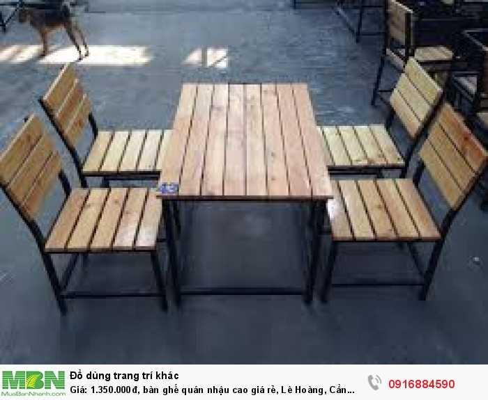 Bàn ghế quán nhậu cao giá rẻ, Lê Hoàng, Cần bán/Dịch vụ chuyên mục Trang trí ngoại thất tại Quận Gò Vấp2