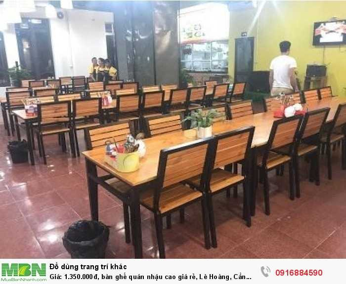 Bàn ghế quán nhậu cao giá rẻ, Lê Hoàng, Cần bán/Dịch vụ chuyên mục Trang trí ngoại thất tại Quận Gò Vấp7