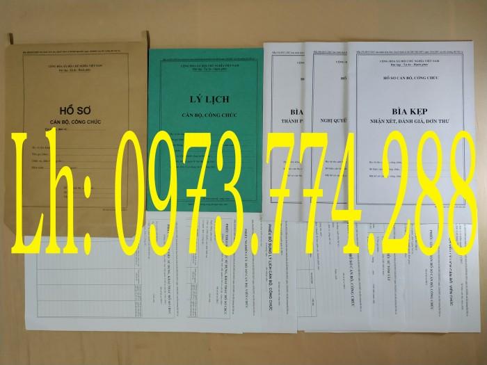 Bán quyển lý lịch cán bộ công chức mẫu 2A/TCTW năm 200822