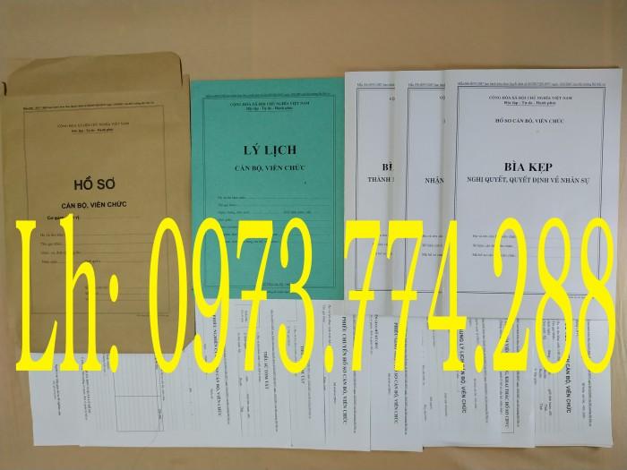 Bán quyển lý lịch cán bộ công chức mẫu 2A/TCTW năm 200819