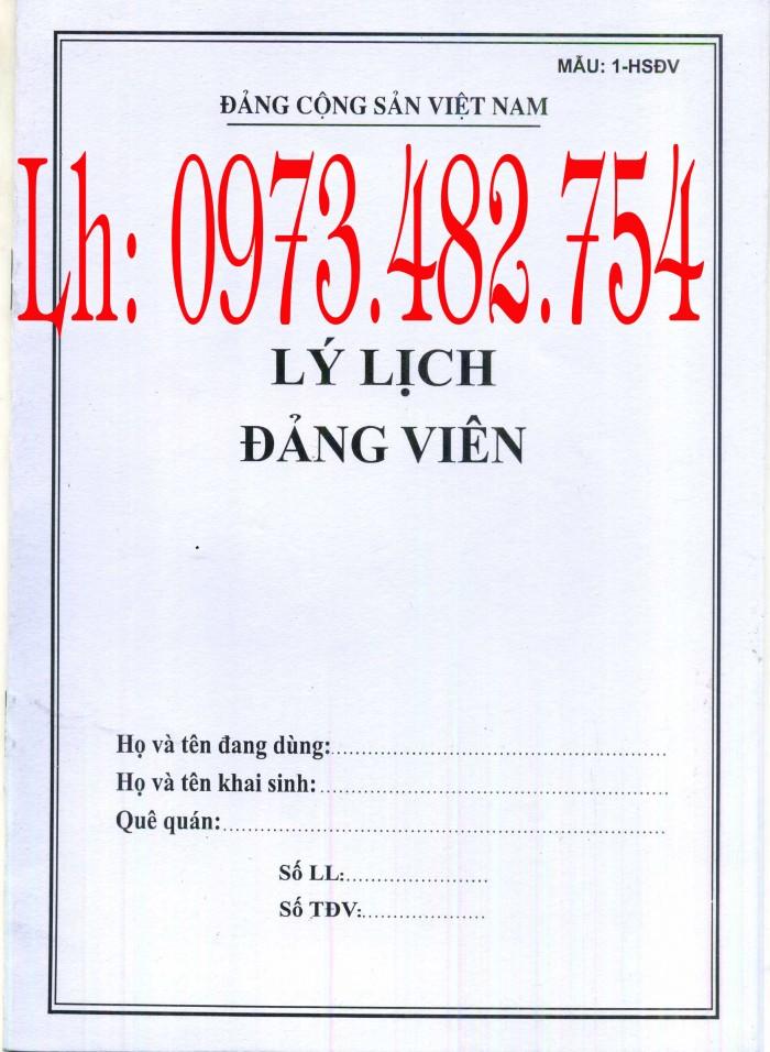 Bán quyển lý lịch cán bộ công chức mẫu 2A/TCTW năm 20083