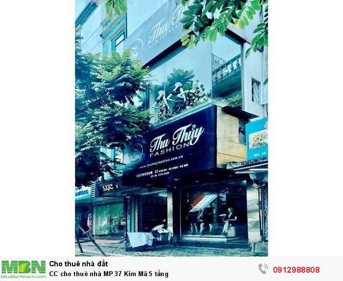 CC cho thuê nhà MP 37 Kim Mã 5 tầng