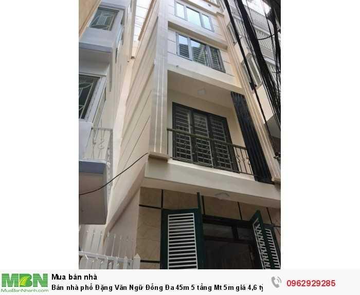 Bán nhà phố Đặng Văn Ngữ Đống Đa 45m 5 tầng Mt 5m