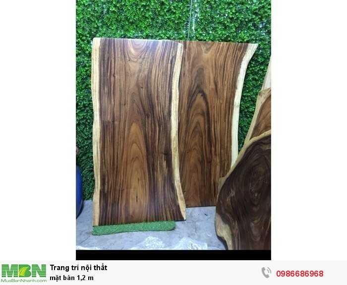 Mặt bàn nguyên tấm gỗ me tây