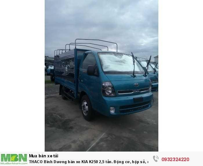 THACO Bình Dương bán xe KIA K250 2,5 tấn. Động cơ, hộp số, cầu HYUNDAI. Hỗ trợ vay 80%