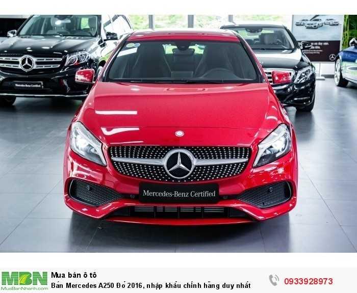 Bán Mercedes A250 Đỏ 2019, nhập khẩu chính hãng duy nhất