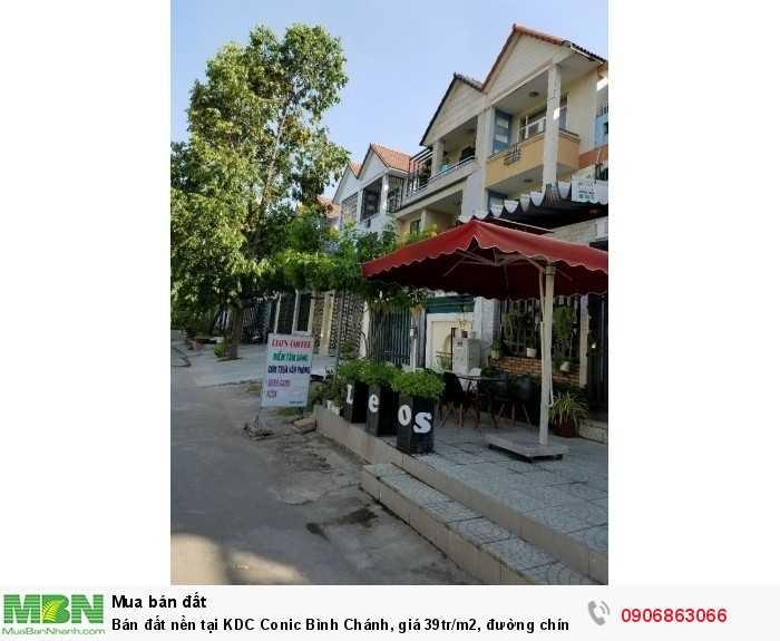 Bán đất nền tại KDC Conic Bình Chánh, giá 39tr/m2, đường chính số 7, 120m2