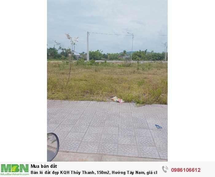 Bán lô đất đẹp KQH Thủy Thanh, 150m2, Hướng Tây Nam, giá chỉ 11,8 tr/m2