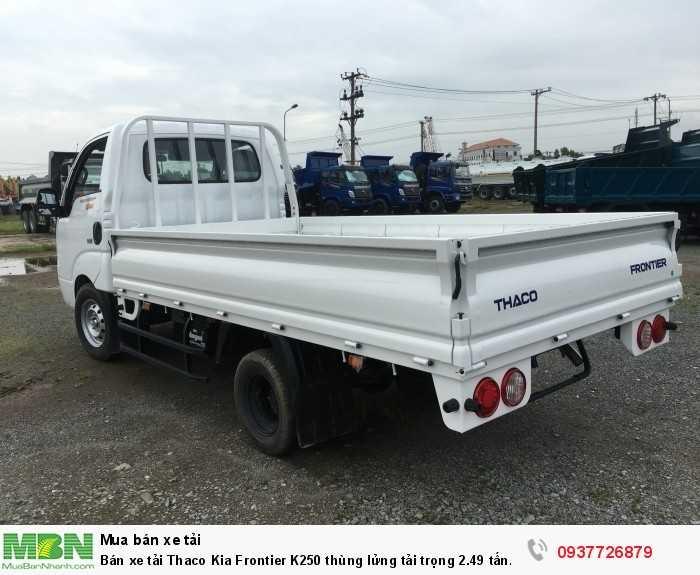Bán xe tải Thaco Kia Frontier K250 thùng lửng tải trọng 2.49 tấn đời 2018