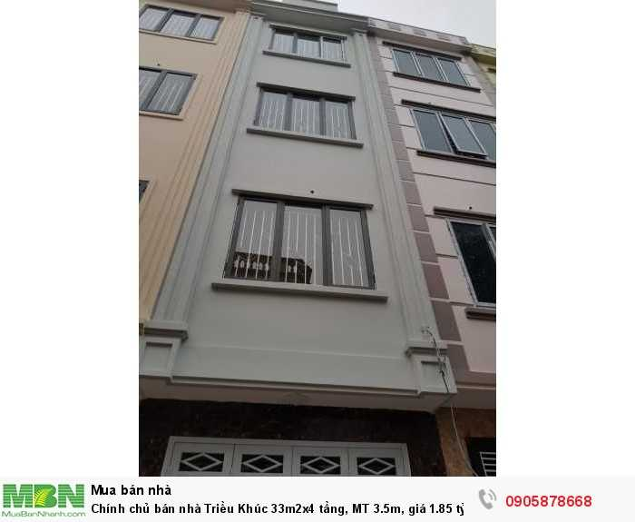 Chính chủ bán nhà Triều Khúc 33m2x4 tầng, MT 3.5m, giá 1.85 tỷ, ô tô cách 150m: