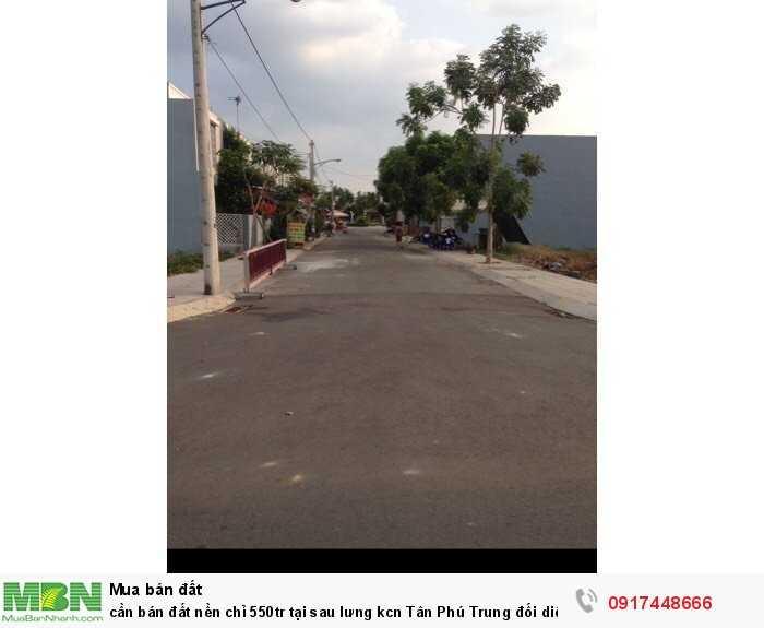 Cần bán đất nền sau lưng kcn Tân Phú Trung đối diện Bv Xuyên Á