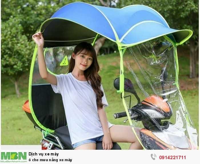 Ô che mưa nắng xe máy