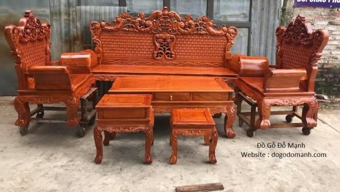 Bộ bàn ghế phòng khách kiểu hoàng gia gỗ hương đá8