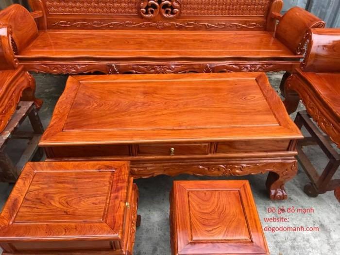 Bộ bàn ghế phòng khách kiểu hoàng gia gỗ hương đá10