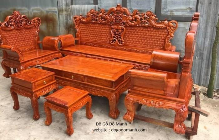 Bộ bàn ghế phòng khách kiểu hoàng gia gỗ hương đá11