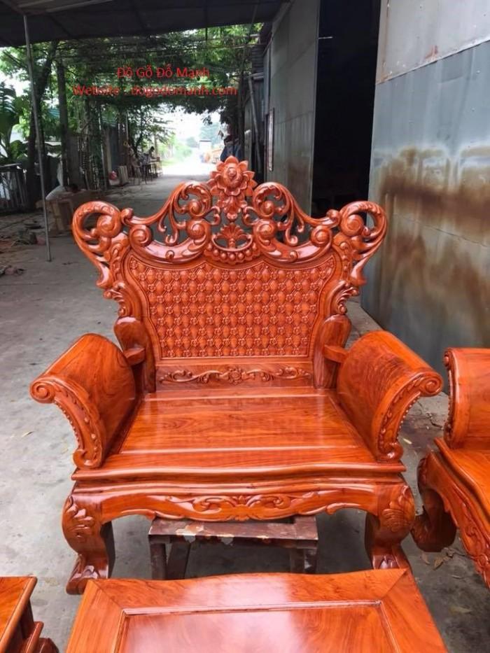 Bộ bàn ghế phòng khách kiểu hoàng gia gỗ hương đá12
