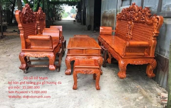 Bộ bàn ghế phòng khách kiểu hoàng gia gỗ hương đá13