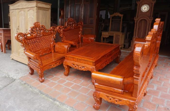 Bộ bàn ghế phòng khách kiểu hoàng gia gỗ hương đá15