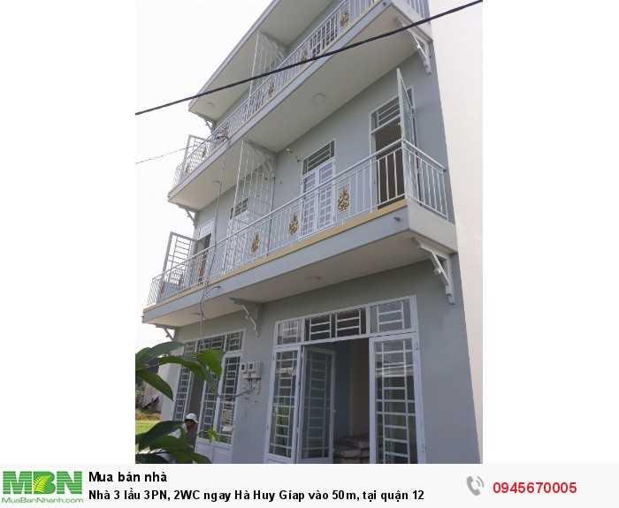 Nhà 3 lầu 3PN, 2WC ngay Hà Huy Gíap vào 50m, tại quận 12