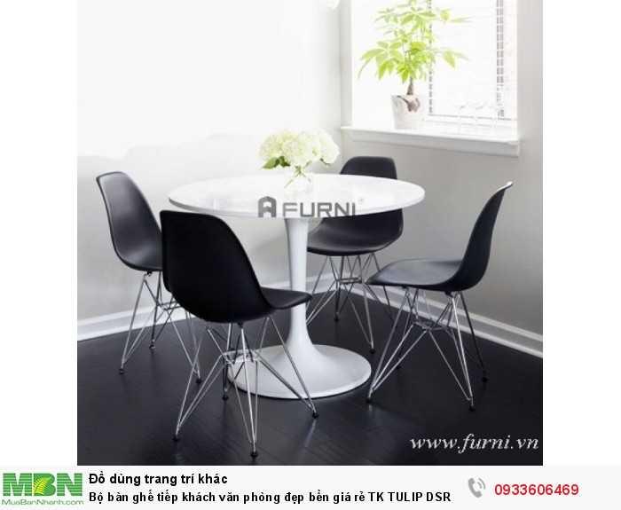 Bộ bàn ghế tiếp khách văn phòng đẹp bền giá rẻ TK TULIP DSR